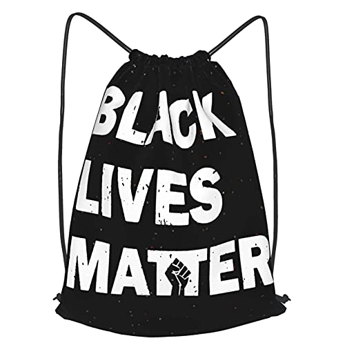 VJSDIUD Bolsa de viaje Black Lives Matter Drawstring Strap Pack Travel Bag Sport Gym Yoga Bag