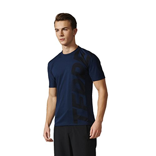 adidas Trail Cross Maillot Homme, Bleu, FR (Taille Fabricant : 180)