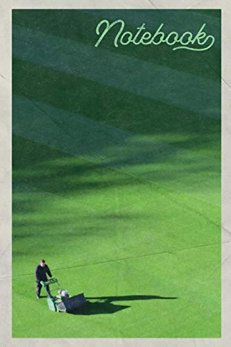 Notebook: Greenkeeper Landscaping Grass Cutting Business Nifty Composition Book Journal Diary for Men, Women, Teen & Kids Vintage Retro Design Football Pitch Lawn Care Services