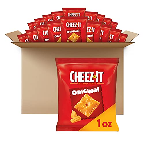 Cheez-It Baked Snack Cheese Crackers  Original  School Lunch Snacks  1 oz Bag (40 Bags)