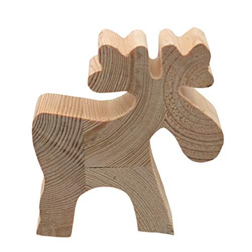 Videx Deko-Holzfigur, Elch, ca. 12x12cm, 4 cm stark
