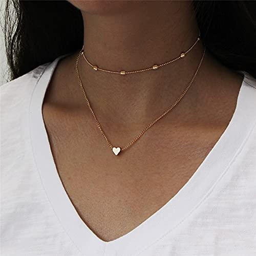 Jovono Collar de moda con gargantilla para mujer y niña (dorado)