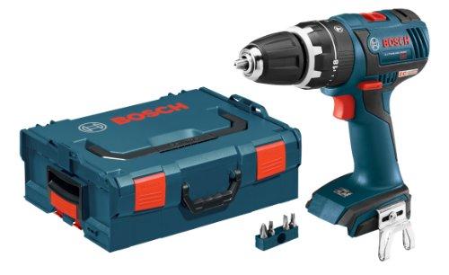 Bosch HDS182BL Taladro percutor compacto de 1/2', 18 V, sin escobillas, con estuche L-Boxx-2 y bandeja de ajuste perfecto para la herramienta (no incluye la batería)