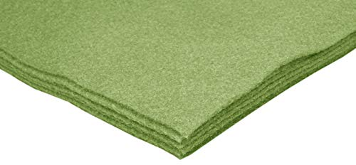 Olive Green Acrylic Felt Sheets 9x12 Felt Sheets for Crafts, Nonwoven Fabric Sheets, Great Felt for Crafts, Patchwork Sewing, Costumes-6 PC Felt Sheets Olive Felt Fabric