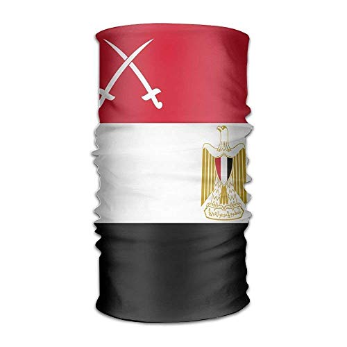 shenhaimojing Unisex War Flag of Egypt Multifunction Bandana Headband Athletic Headwear Sweatband,Magic Scarf,Neck Balaclava,Helmet Liner,Tube Mask,UV Resistence Outdoor Sport Yoga