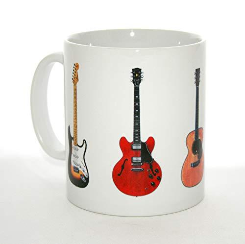 George Morgan Illustration Gitarren-Becher. Eric Clapton 5 berühmte Gitarren