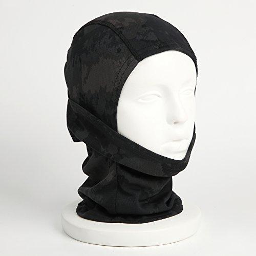 『【ノーブランド品】3Way フェイスマスク アーミー バラクラバ ミリタリー (ブラック迷彩)』の2枚目の画像