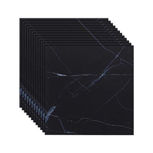 Schwarze Marmorfliesen-Wandaufkleber, Vinyl, wasserdicht, selbstklebend, Tapete, Bodenaufkleber, Renovierung, Wohnzimmer, Badezimmer, Heimdekoration