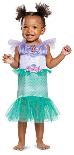 Disguise Baby Girls Ariel Infant Costume, Teal, (12-18 mths)