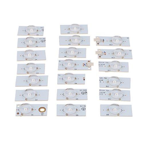 SM SunniMix Gocce per Lampada SMD Da 20 Pezzi 6V con Patch per Lenti Ottiche per La Riparazione di TV LED Da 32-65 Pollici