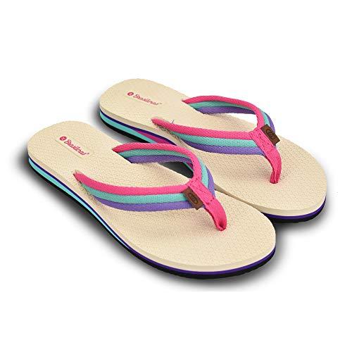 Chanclas de Playa Brasileras®, Natal. Suela Antideslizante del 36 al 41. Mujer para Interior/Exterior. Zapatos Piscina Verano