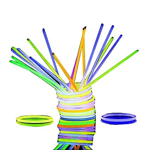 Glow Sticks Bulk Party Pack Multicolor no tóxico 100 piezas Light Stick Set