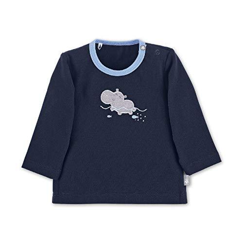 Sterntaler Baby-Jungen Sweater T-Shirt, Blau (Marine 300), 3-6 Monate (Herstellergröße: 56)