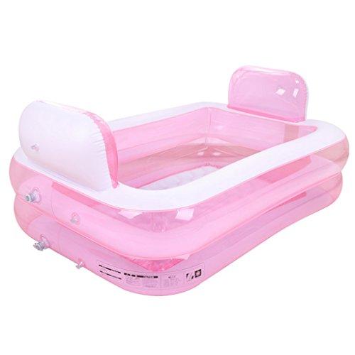 Bañeras con Jacuzzi Padre e Hijo Hinchable para Adultos Barril Plegable Piscina Individual (Color : Pink)