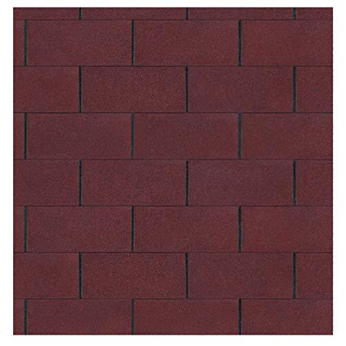 Bitumen Dachschindeln Farbe rot 3 m² von Gartenpirat®
