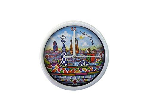 Nadal Uhr Kleine Gaudi Spanien, Mehrfarbig, 14,5x 14,5x 3,3cm