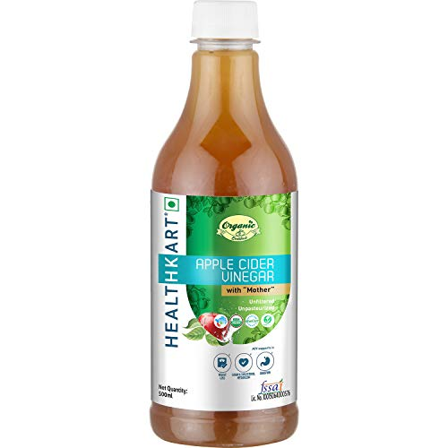 Apple Cider Vinegar With Mother (Organic 500 Ml (16.90 Oz )