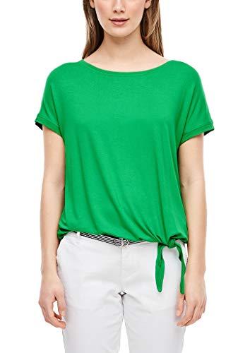 s.Oliver 04.899.32.6071 T-Shirt Kurzarm Camiseta, Verde, 46 para Mujer