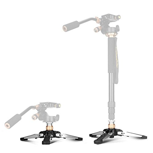 Monopod Stand Base - TWZ Monopod Three-Legged Supporting Holder (Must Have Screw Hole) with Standard 3/8