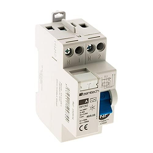 Interrupteur différentiel 40/2 30mA Type A NF - Zenitech