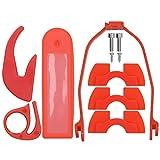 Kit de accesorios para scooter, piezas de scooter eléctrico Cubierta protectora de silicona + 2 piezas de gancho + 3 piezas de amortiguación + Soporte de guardabarros trasero ABS para XIAO_MI M365/PRO