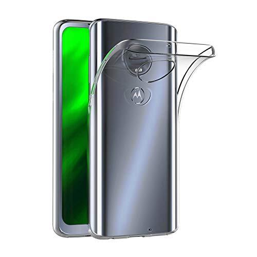 AICEK Hülle Compatible für Moto G7 / Moto G7 Plus Transparent Silikon Schutzhülle für Moto G7 Case Clear Durchsichtige TPU Bumper Motorola Moto G7 Handyhülle (6,0 Zoll)