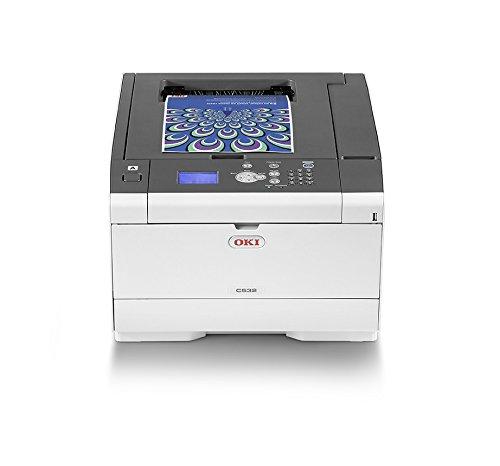 OKI C532dn Farbdrucker (Drucken, A4, 30 Seiten/Min., 1.200x1.200 dpi, LAN, WLAN optional, Duplexdruck, max. 6.000 Seiten/Monat)