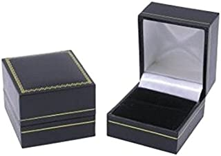 Classic Cartier Design Leatherette Black Ring Gift Box