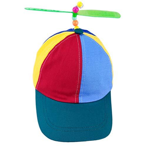 Ysoom Mütze mit Propeller, Helikopter Cap Baseball Propeller Mütze Hubschrauber Basecap