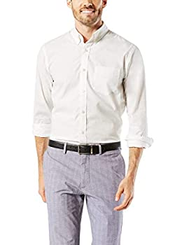 Dockers Men s Big and Tall Bt Comfort Stretch No Wrinkle Long Sleeve Buttonfront Shirt Paper White 3XL