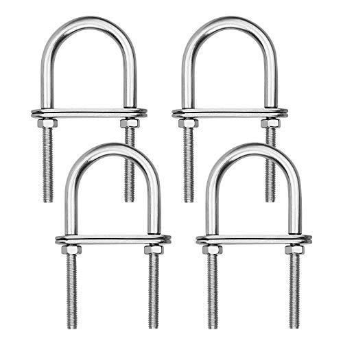 4 piezas M5 Tornillos en U 304 de Acero Inoxidable Pernos Forma de U con Marco de Ranura 5 * 40 * 80MM