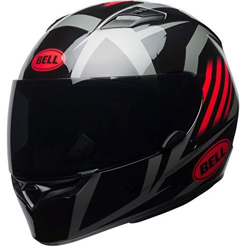 Bell Street 2019 Qualifier STD Helm für Erwachsene, Schwarz/Rot/Titan, Größe XS