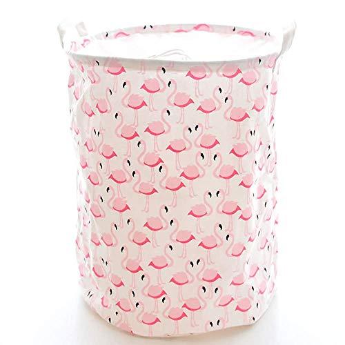 SYue Cesta de Ropa Sucia Flamingo Cesta de lavandería Puerto de Vigas Cubo de Almacenamiento Cubo de Almacenamiento de cosméticos Grandes