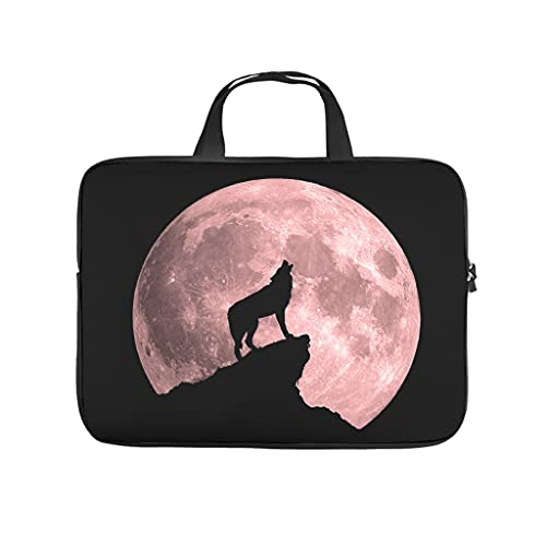 Wolf Blutmond Double Sided Printed Laptop Bag Protective Case Waterproof Neoprene Laptop Sleeve Bag Notebook Bag for Girls Boys