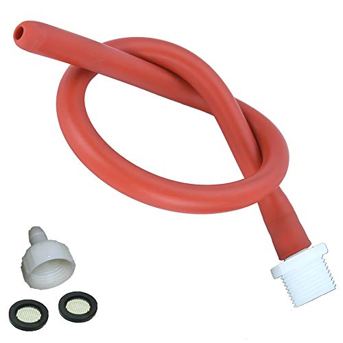 Anal Cleaning Shower Douche System Kit for Men and Women Reusable Red Latex Hose (19in)