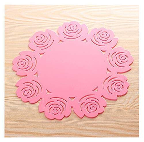 LYDBM Mesa de Mesa de Montura de Silicona Rose de Silicona Cocina Mesa de Comedor Deca (Color : Rosado)