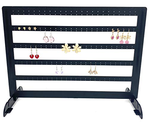 Goldenvalueable Earring Display 5 Tier Black Holding 240 Single Earrings