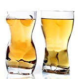 HHYSPA 2*Unique Beer Cup Funny Wine Glass Human Body Cup Whisky Vodka Shots Glasses Creative Bars,Funny Crystal Drinking Cup,Creative Whiskey Glasses,Couple Wine Glasses, Bar Wine Glasses