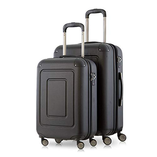 Happy Trolley Lugano Koffer-Set, 66 cm, 78.0 Liter, Schwarz
