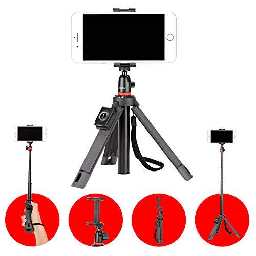 JOBY JB01550-BWW TelePod Mobile Stativ (geeignet ür Smartphone und Kamera inkl. Bluetooth Auslöser, Einbeinstativ /Selfie-Stick / Vlogging, Stativ mit Kugelkopf)