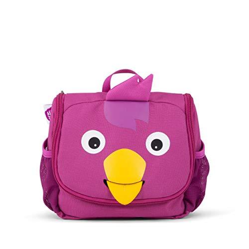 Affenzahn Kulturtasche - für 1-5 Jährige Kinder im Kindergarten als Kulturbeutel für Mädchen und Jungen - Vogel - Lila