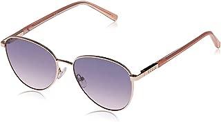 Guess Women's GU3041 GU3041 28Z Round Sunglasses, Gold, 53 mm