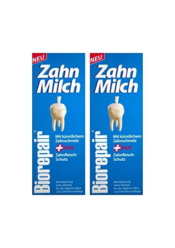 2x BIOREPAIR Zahn-Milch 500ml PZN: 12387056 Ohne Alkohol NEU Zahnfleisch-Schutz