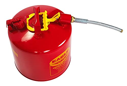 Eagle U2-51-S Red Galvanized Steel Type II Gas Safety Can with 7/8