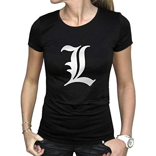 ABYstyle - ABYTEX021 - death Note - Déguisements et Imitations - T-Shirt Basic Femme L Tribute Black
