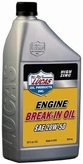 Lucas Oil 10635-6PK SAE 20W-50 Break-in Oil - 1 Quart, (Case of 6)