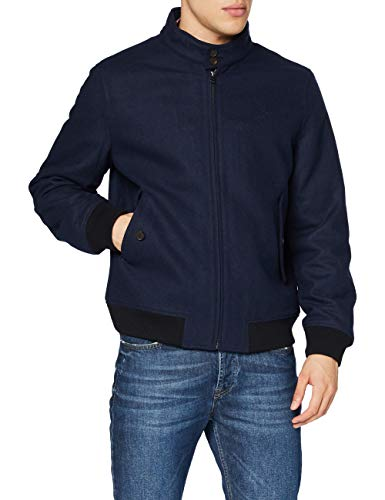 GANT Herren D1. The Wool Herrington Jacket Jacke, Marine, L