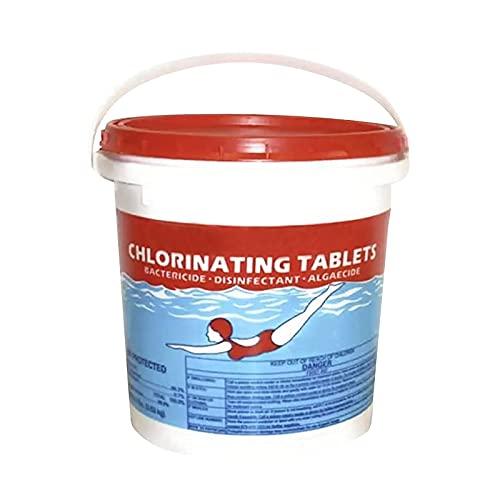 2021 Efficient Chlorine Pool Tablets - Chlorine Tabs for Pool Chlorine Tablets for Above Ground Pools with Floater Dispenser (100 pc)