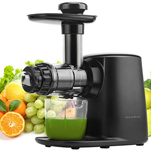Juicer Machines, Vestaware Juicer Extractor with 5 Adjustable Modes/Reverse Function/Quiet Motion, BPA-Free,Easy to Clean Slow Juicer for Fruits and Vegetables