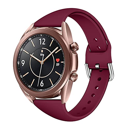KUNKUN Qiankun Store Smart Watch Replace Strap 20MM Soft Silicone Wristband Fit for Samsung Galaxy Watch Active for Huawei Watch 2 /Honor Magic Watch 2 (Band Color : Red, Band Width : 20mm)